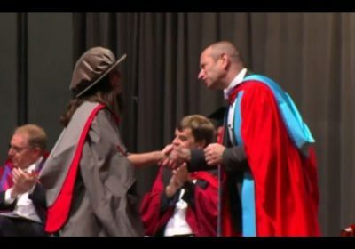 PhD Graduation Ceremony at the University of York. Dr. Ana R. Fontecha